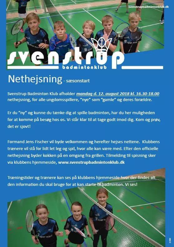 Nethejsning i Svenstrup Badminton Klub